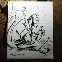 Inktober 8 Hellboy by Jorch