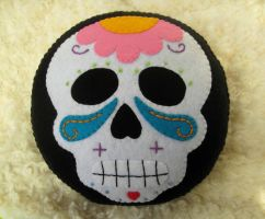 Sugar Skull Plush Pillow by P-isfor-Plushes