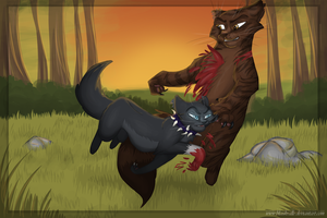 Tigerstar's death by Blaukralle