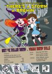 East Victoria Roller Derby League Bout Poster by Skele-kitty