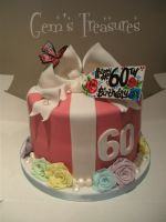60th Gift Box With Flowers And Pearls by gertygetsgangster