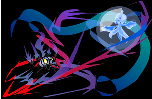 Frillish Vs. Chandelure by juming5
