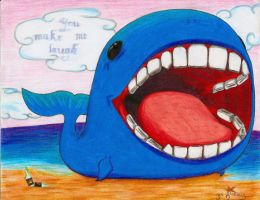 Happy Whale by BrinkleyInk