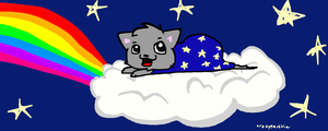 Clouds, Rainbows, Cats- oh my! by derpato