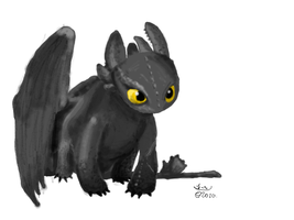 Toothless by LordBlumiere