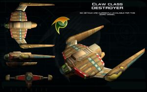 Gorn Claw class destroyer ortho by unusualsuspex