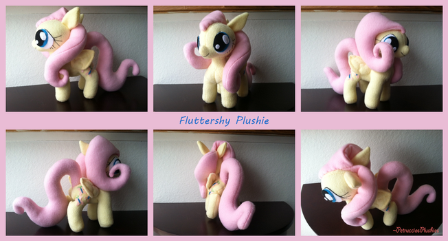 Fluttershy Plushie (Sold) by PetrucciosPlushies