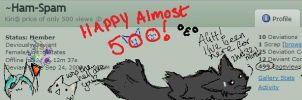 Almost 500 by Dizzy-Cat