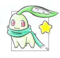 Merry Xmas-Chikorita .colour. by Fluna