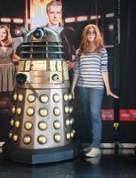 Amy Pond and the Dalek by valeravalerevna