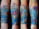 Dynamics in Blue by Anderstattoo