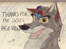 Page Views 200: Balto and Fievel by Jacklave
