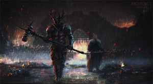 Battle on the Pyke (Robert and Ned) by Lensar