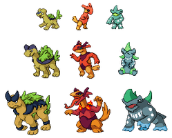 2nd Generation Starters by Tropiking