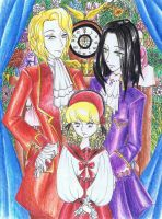 Lestat, Louis and Claudia by noriko-blackrose13