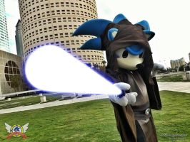 Sonic cosplaying a Jedi by SonicTheCosplayer
