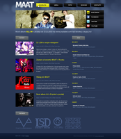 MAAT website redesign by PiP3R-CZ