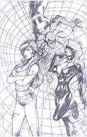spidey's girls by MichaelDooney
