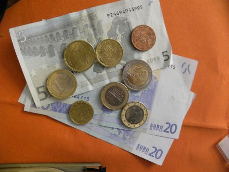 My Euros for the trip by fatkideatsman