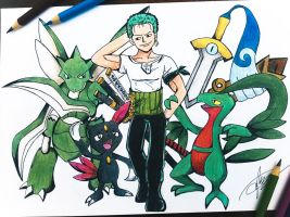 One Piece X Pokemon (Zoro)