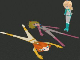 Peach and Daisy in: Run Down Racers by DepthDropper