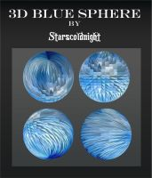 3D blue spheres 2 by starscoldnight by StarsColdNight