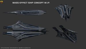 Mass Effect Ship Concept by Euderion