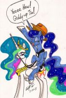 Giddy Up Celestia by newyorkx3