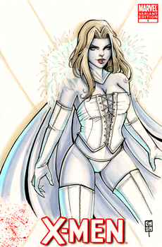 Vampy Emma Frost by ColletteTurner