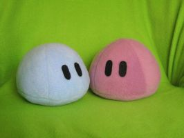 Two Plushie dango by PlushWorkshop