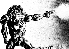 Grunt takes the shot. by JiPoJiP