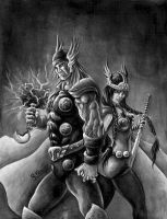 Thor e Sif by ricardoafranco by TraditionalArt