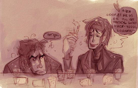 Logan and Gambit - Night Out by cyber-tronics