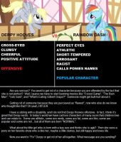 Derpy Vs. Rainbow Dash by Naomi-Daos