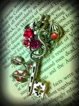 The Garden Dragon Fantasy Key by ArtByStarlaMoore