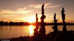 Stone balance sunset in Hungary by tamas kanya by tom-tom1969