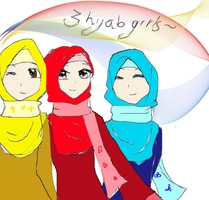 request:hijab girls! by Thira1999