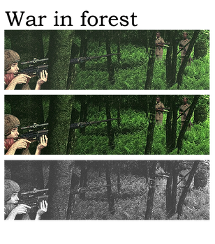 War in forest by fodkito
