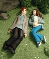Edward and Bella in Sugar by Dragonsanddaffodils