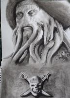 Davy Jones in charcoal by Hulkster77