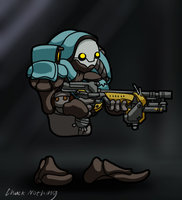 Tiny Tenno - Grineer by Chuck-Nothing