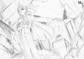 Sketch: Apollo Stands the Fallen Court Of Law by Marini4