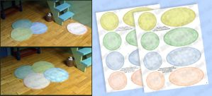 DIY Dollhouse Printable Round Rugs - Pastel Colors by Kyle-Lefort