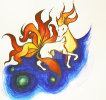 Ninetails. by Omgtinybees