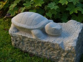 Turtle Sandstone Stone Crafts Carving by stone-sculptor