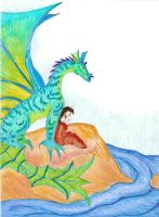 Sea Dragon and Child. by hno3burns