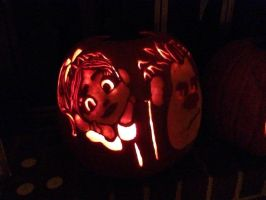 'Wreck It Ralph' Pumpking Carving by P5QUARED