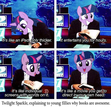 Why books are awesome by ResidentEddy