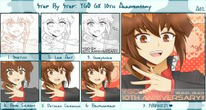Step-by-Step: GX 10th Anniversary by Awesomeness02