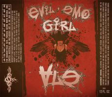 Evil Emo Girl Ale Label by Joey-Zero